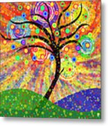 Solar Tree Metal Print