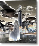 Solarized Infrared City Park Metal Print