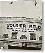 Soldier Field Metal Print