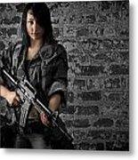 Soldier Girl Metal Print by Jim Boardman