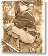 Soldier On Horse Metal Print