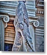 Soldier Statue Hdr Alabama State Capitol Metal Print