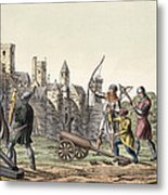 Soldiers And Artillery Of The 15th Metal Print