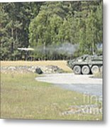Soldiers Fire A Tow Missile Metal Print