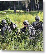 Soldiers Maintain Security At Fort Metal Print
