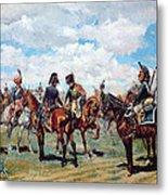 Soldiers On Horseback Metal Print