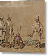 Soldiers Relaxing, 1844 Wc & Gouache On Paper Metal Print
