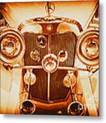 Solid Gold Mercedes Metal Print