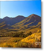 Solider Mountain Shadows Metal Print