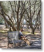 Solitaire Reading Metal Print