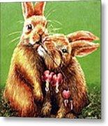 Some Bunny Loves You Metal Print by Linda Simon
