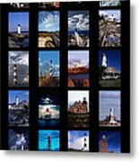 Some East Coast Lighthouses Metal Print