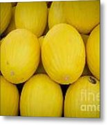 Some Fresh Melons On A Street Fair In Brazil Metal Print by Ricardo Lisboa