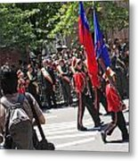 Some Young Flag Bearers Marching In The St. Patrick Old Cathedral Parade Metal Print