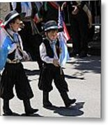 Some Young Italian Boys Marching In The St. Patrick Old Cathedral Parade Metal Print