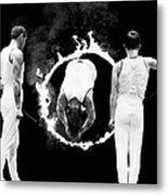 Somersault Through Flames Metal Print