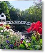Somesville Bridge And Home Metal Print