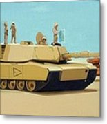 Somewhere Outside Baghdad Metal Print by Scott Listfield