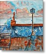 Somplace In Greece Metal Print
