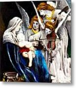 Song Of The Angels By Bouguereau Metal Print