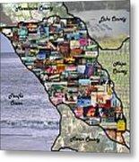 Sonoma County Collage Metal Print