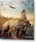 Sons Of The Earth Metal Print by Trudi Simmonds