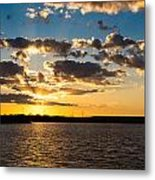 Sooner Lake Sunset Metal Print