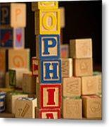 Sophia - Alphabet Blocks Metal Print