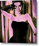 Sophia Loren - Purple Pop Art Metal Print