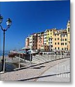 Sori Waterfront. Italy Metal Print
