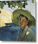Sorollajoaqu�n 1863-1923. Boy With Hat Metal Print