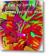 Sorry Please Forgive Me Metal Print