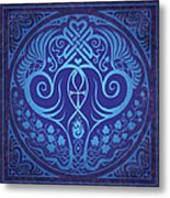 Soul Mates - Blue Metal Print