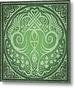 Soul Mates - Green Metal Print by Cristina McAllister