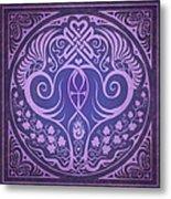 Soul Mates - Purple Metal Print