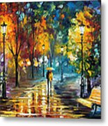 Soul Of The Rain - Palette Knife Oil Painting On Canvas By Leonid Afremov Metal Print