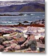 Sound Of Iona  The Burg From The North Shore Metal Print