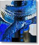 Sounder In Blue Metal Print