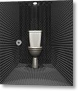 Soundproof Toilet Cubicle Metal Print