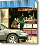 Soups's On Montreal's Favorite Fast Food Road Side Attractions Rue St. Denis Resto Urban City Scene  Metal Print