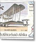 South Africa Stamp Metal Print