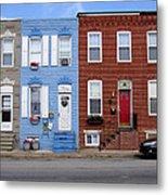 South Baltimore Row Homes Metal Print