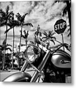 South Beach Cruiser Metal Print