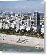 South Beach Florida Metal Print