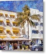 South Beach Miami Art Deco Buildings Metal Print