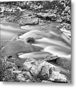 South Boulder Creek Little Waterfalls Rollinsville Bw Metal Print