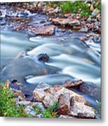 South Boulder Creek Little Waterfalls Rollinsville Metal Print