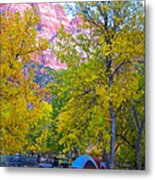 South Campground In Zion Np-ut Metal Print