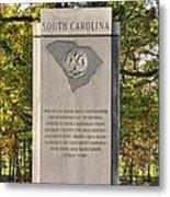 South Carolina At Gettysburg - Close 1 Metal Print