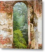 South Carolina Historic Church Photo Sheldon Ruins-- Another View From The Inside Metal Print